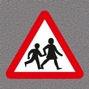 School Crossing Ahead Road Sign